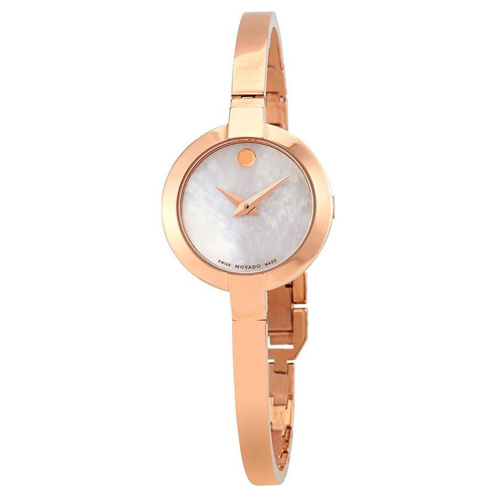Movado Bela Quartz Rose-Tone Stainless Steel Watch 0607082