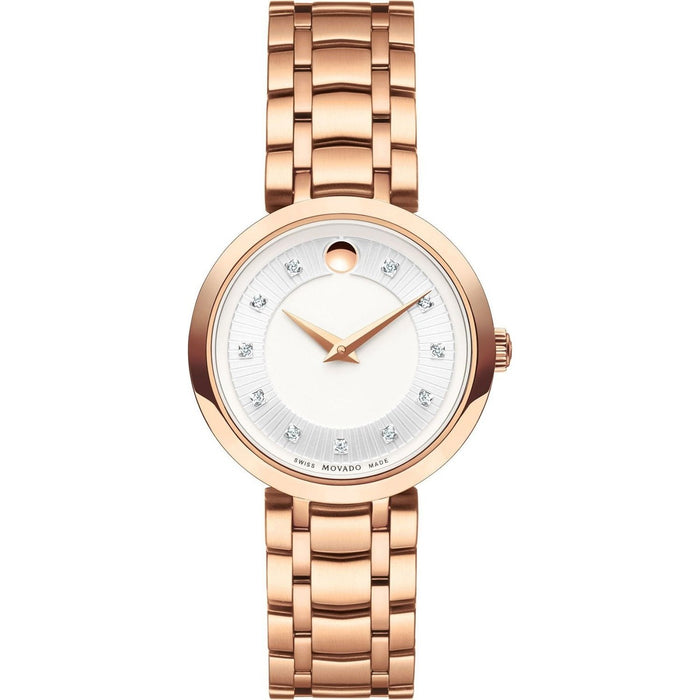 Movado 1881 Quartz Rose Gold-Tone Stainless Steel Watch 0607100