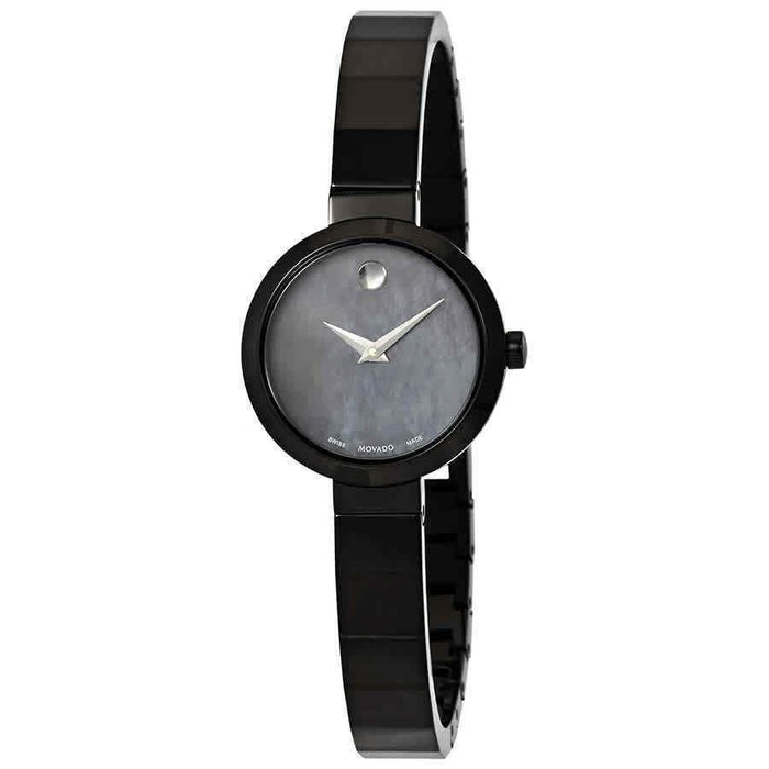 Movado Novella Quartz Black Stainless Steel Watch 0607113