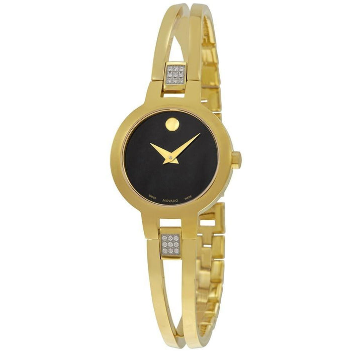 Movado Amorosa Quartz Gold-Tone Stainless Steel Watch 0607155