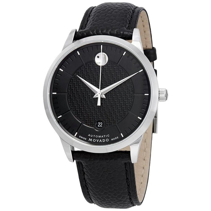 Movado 1881 Automatic Automatic Black Leather Watch 0607165