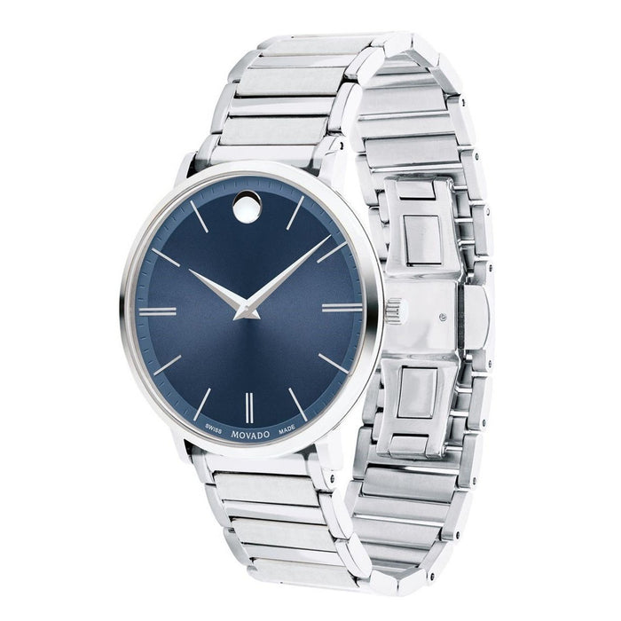 Movado Ultra Slim Quartz Stainless Steel Watch 0607168