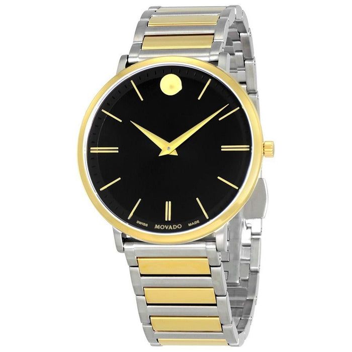 Movado Ultra Slim Quartz Two-Tone Stainless Steel Watch 0607169