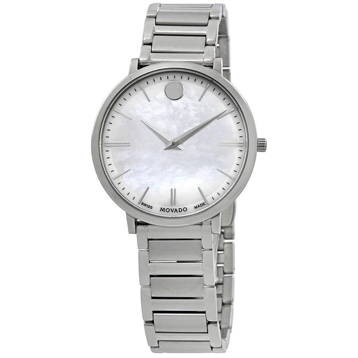 Movado Ultra Slim Quartz Stainless Steel Watch 0607170