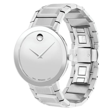 Movado Sapphire Quartz Stainless Steel Watch 0607178