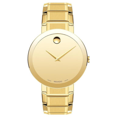 Movado Sapphire Quartz Gold-Tone Stainless Steel Watch 0607180