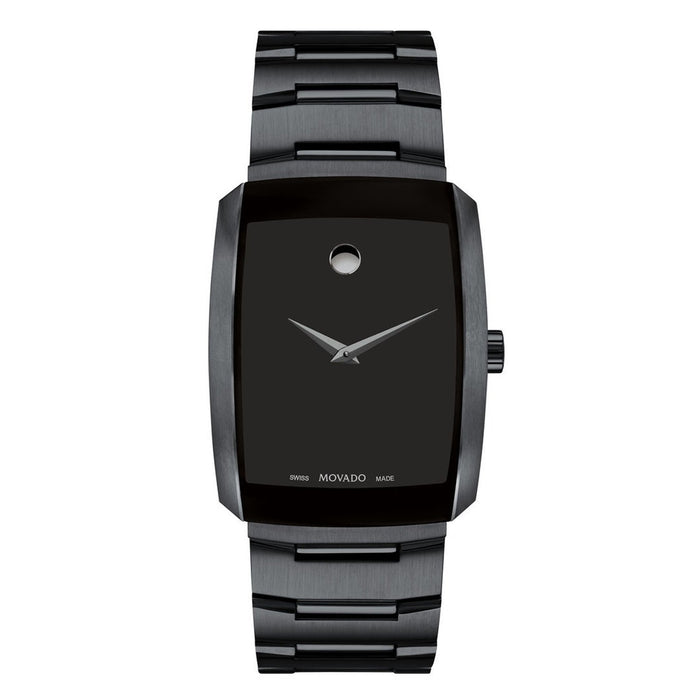 Movado Eliro Quartz Black Stainless Steel Watch 0607187