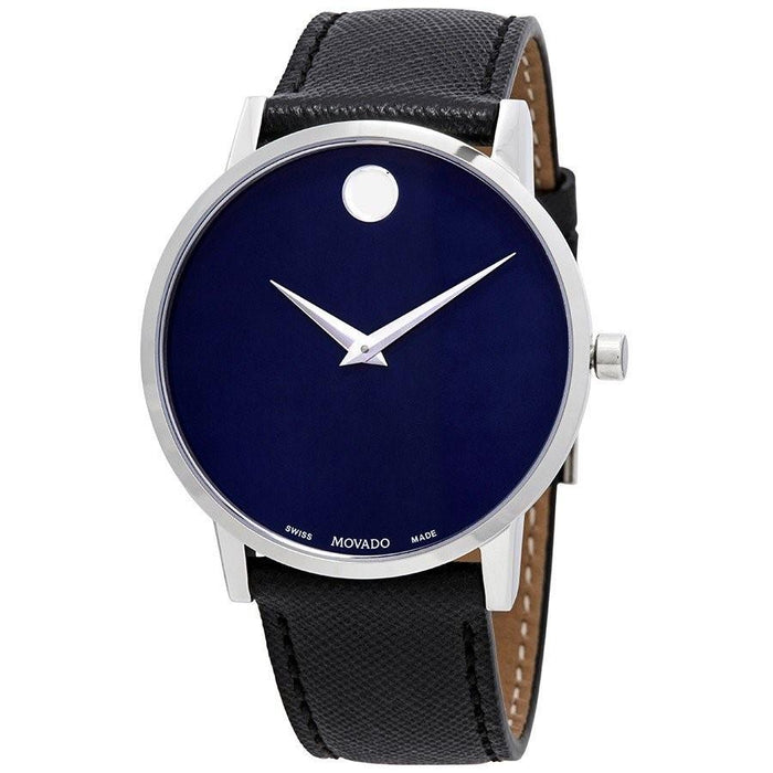 Movado Museum Classic Quartz Dot Black Leather Watch 0607197
