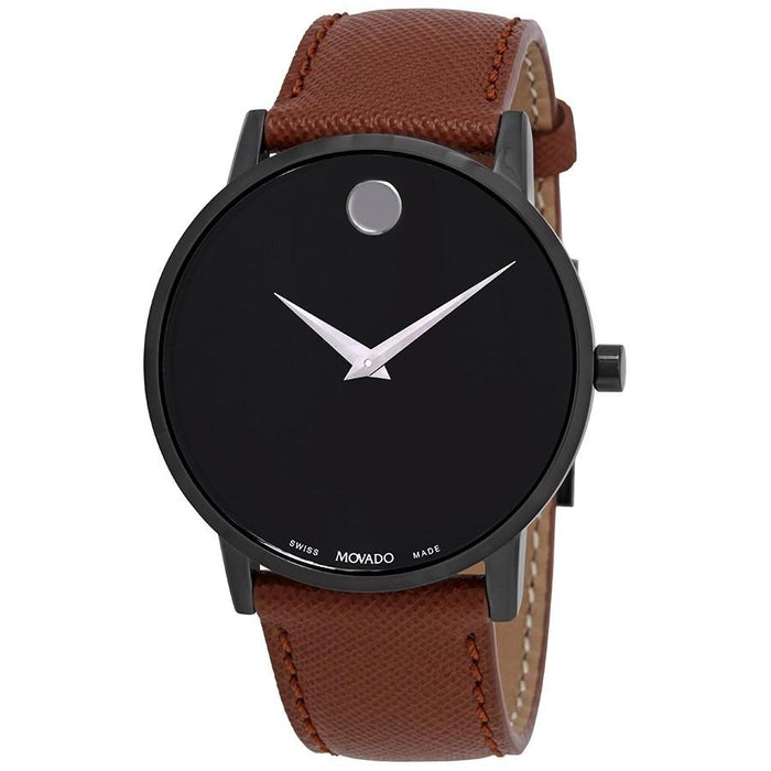 Movado Museum Quartz Brown Leather Watch 0607198