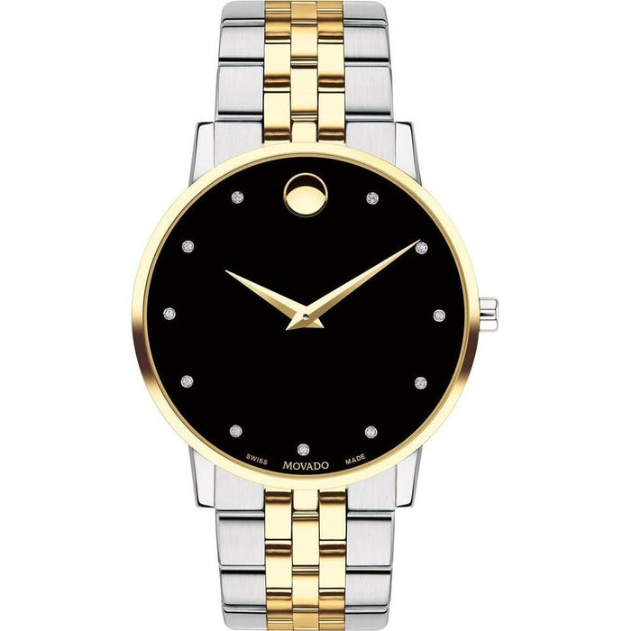 Movado Museum Quartz Diamond Automatic Two Tone Stainless Steel Watch 0607202