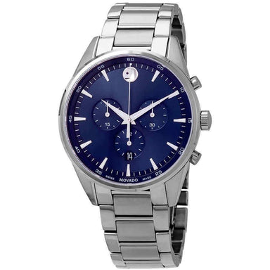 Movado Stratus Quartz Chronograph Stainless Steel Watch 0607248