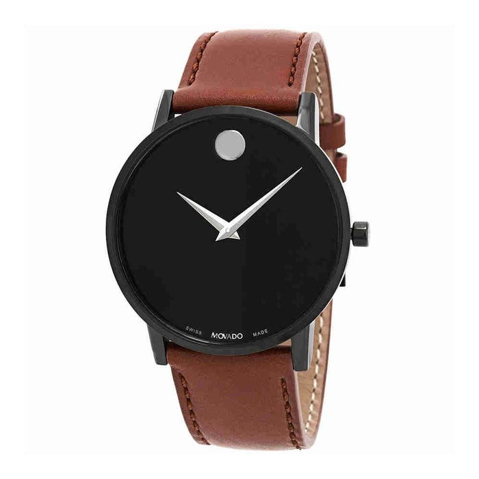 Movado Museum Quartz Brown Leather Watch 0607273