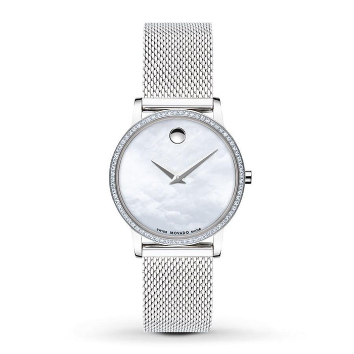 Movado Museum Classic Quartz Dot Stainless Steel Mesh Watch 0607306