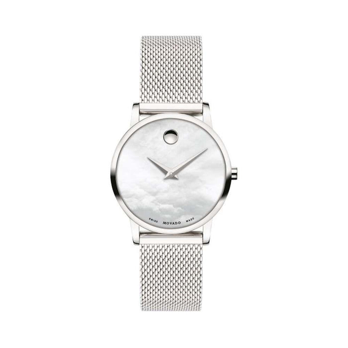 Movado Museum Classic Quartz Stainless Steel Watch 0607350