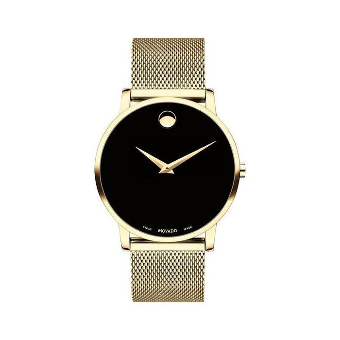 Movado Museum Classic Quartz Gold-Tone Stainless Steel Watch 0607396