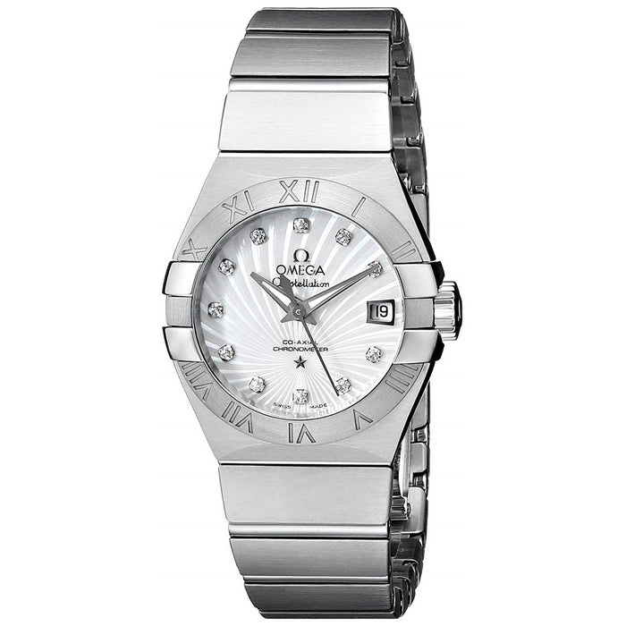 Omega Constellation  Automatic Diamond Stainless Steel Watch 123.10.27.20.55.001