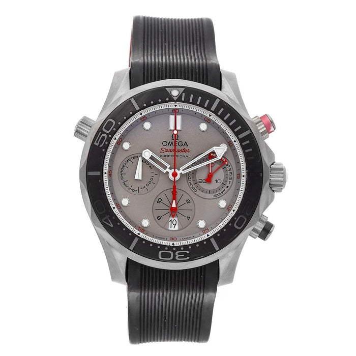 Omega Seamaster Diver 300 Co-Axial Chronograph Automatic Chronograph Black Rubber Watch 212.92.44.50.99.001