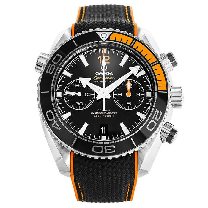 Omega Seamaster Planet Ocean Automatic Chronograph Two-Tone Rubber Watch 215.32.46.51.01.001