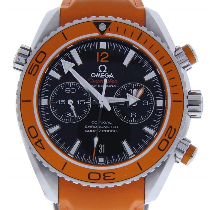 Omega Seamaster Planet Ocean Automatic Chronograph Orange Rubber Watch 232.32.46.51.01.001
