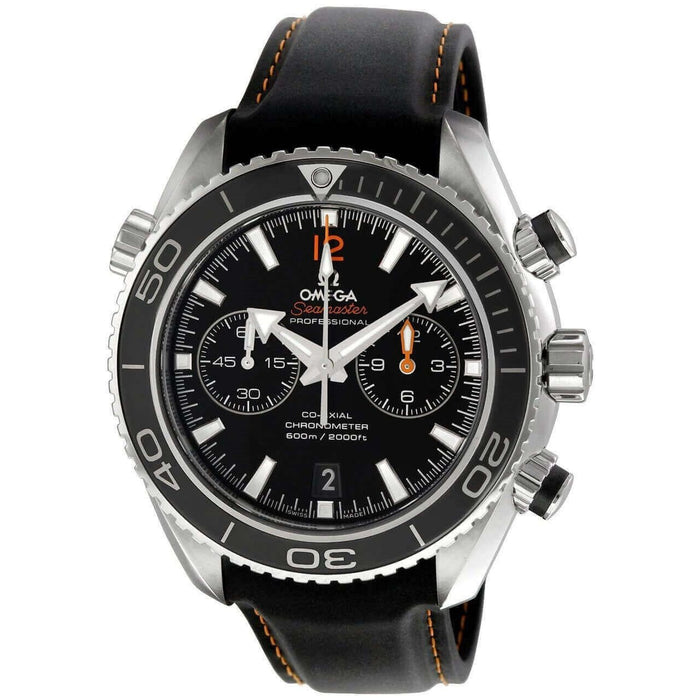 Omega Seamaster Planet Ocean Automatic Chronograph Automatic Black Leather Watch 232.32.46.51.01.005
