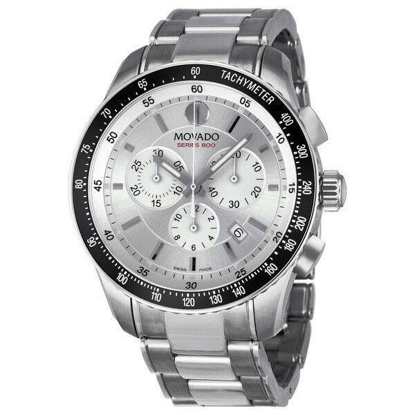Movado Series 800 Quartz Chronograph Stainless Steel Watch 2600095