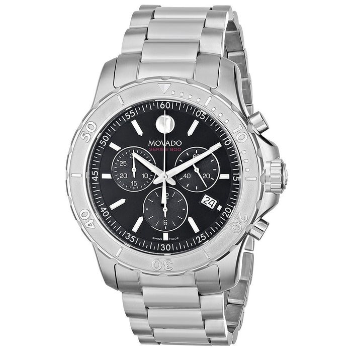 Movado 800 Performance Quartz Chronograph Stainless Steel Watch 2600110