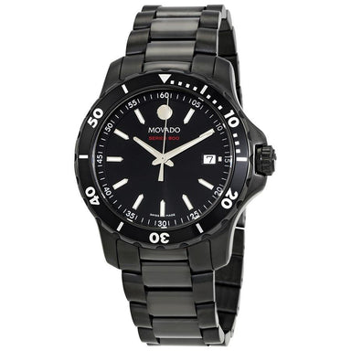 Movado Series 800 Quartz Black Stainless Steel Watch 2600143