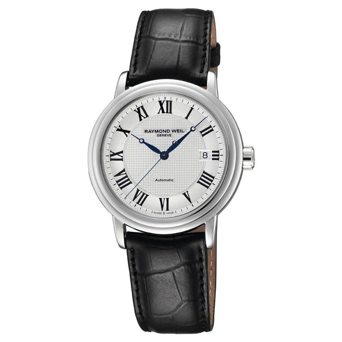 Raymond Weil Maestro Automatic Automatic Black Leather Watch 2837-STC-00659