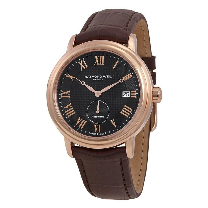 Raymond Weil Maestro Automatic Automatic Brown Leather Watch 2838-PC5-00209