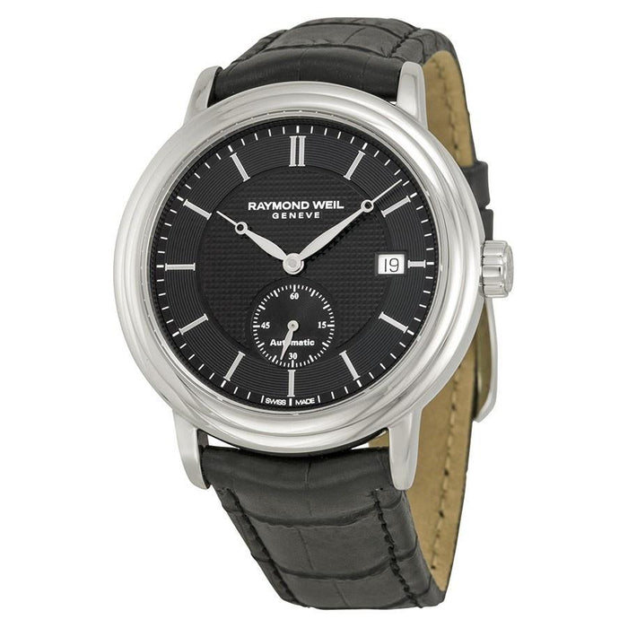 Raymond Weil Maestro Automatic Automatic Black Leather Watch 2838-STC-20001