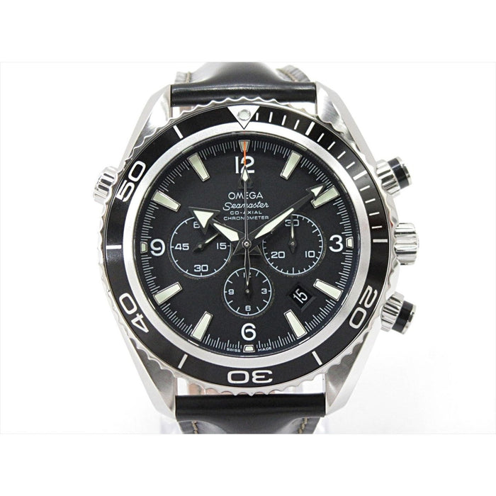 Omega Seamaster Planet Ocean 600M Automatic Chronograph Black Rubber Watch 2910.50.81