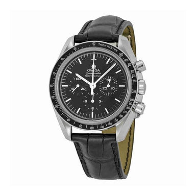 Omega Speedmaster   Hand Wind Chronograph Black Leather Watch 311.33.42.30.01.002