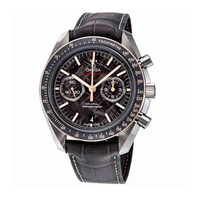 Omega Speedmaster Moonwatch Automatic Chronograph Grey Leather Watch 311.63.44.51.99.002