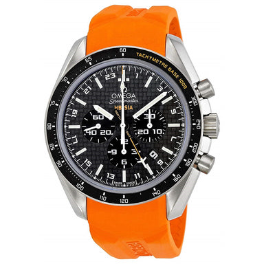 Omega Speedmaster HB-SIA Automatic Chronograph Orange Rubber Watch 321.92.44.52.01.003