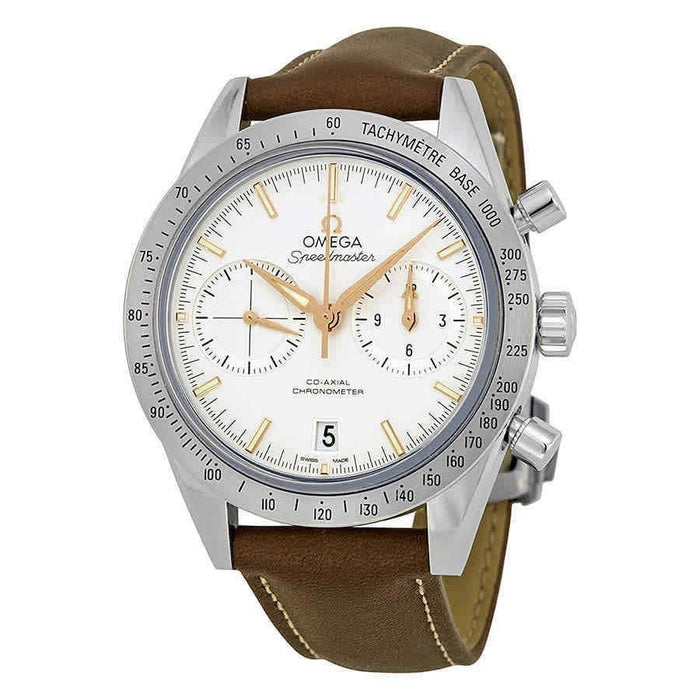 Omega Speedmaster Automatic Chronograph Brown Leather Watch 331.12.42.51.02.002