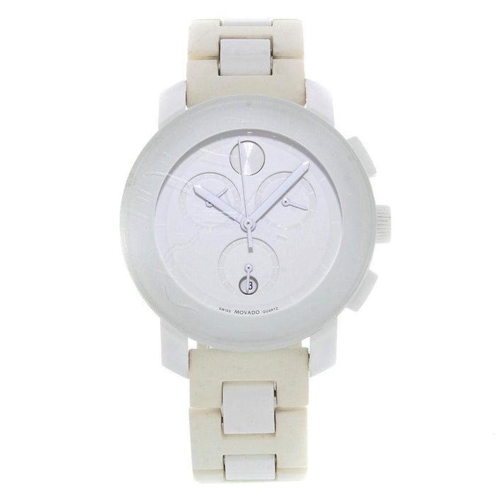 Movado Bold Quartz Chronograph White Resin Watch 3600057