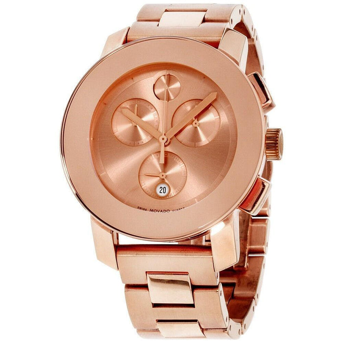 Movado Bold Quartz chronograph Rose Gold-Tone Stainless Steel Watch 3600077