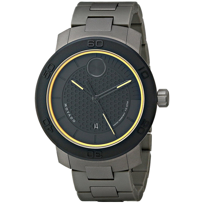 Movado Bold Quartz Black Stainless Steel Watch 3600098