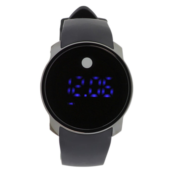 Movado Bold Touch Screen Quartz Black Silicone Watch 3600144