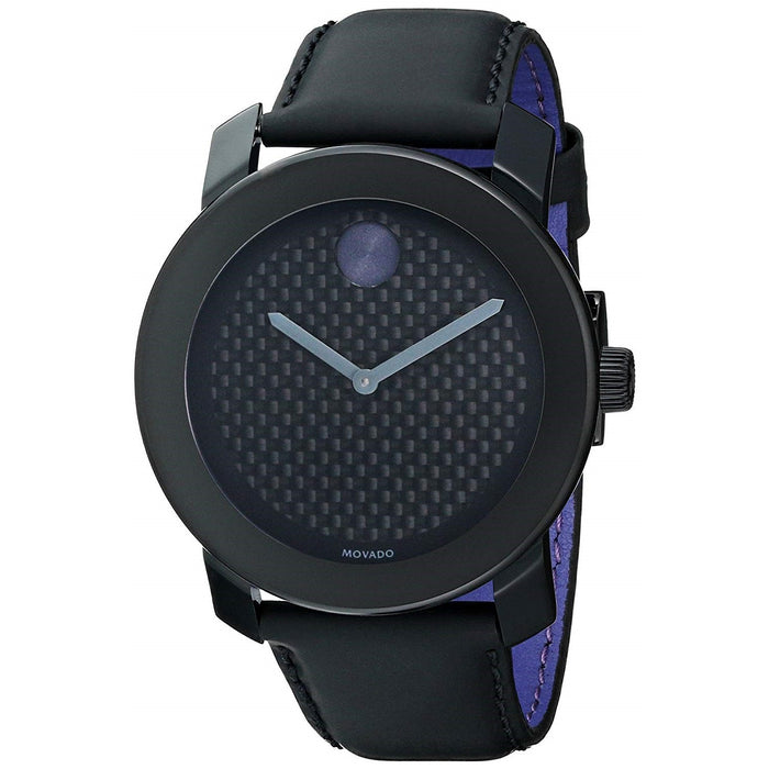 Movado Bold Quartz Black Leather Watch 3600170