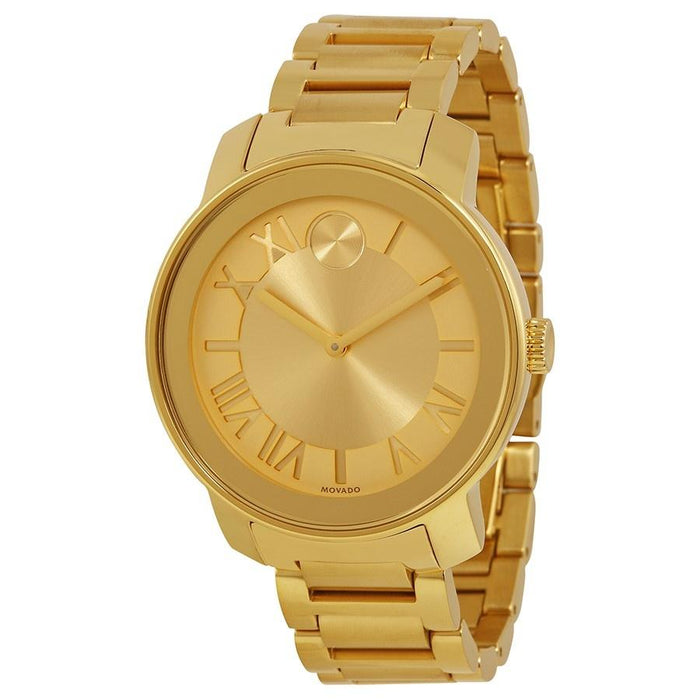 Movado Bold Quartz Gold-Tone Stainless Steel Watch 3600197