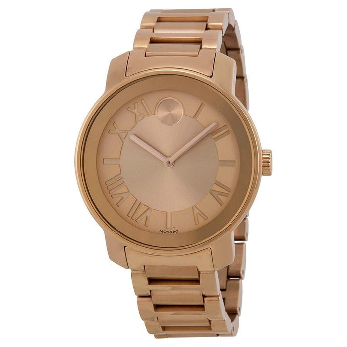 Movado Bold Quartz Rose-Tone Stainless Steel Watch 3600199