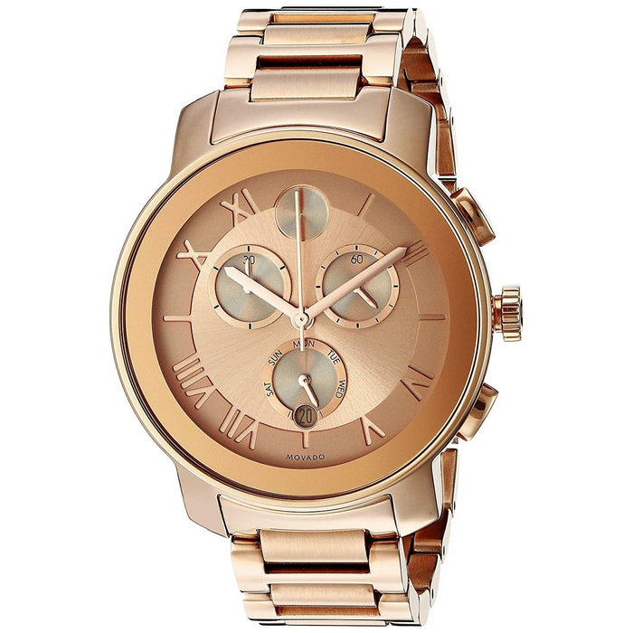 Movado Bold Quartz Chronograph Rose-Tone Stainless Steel Watch 3600210
