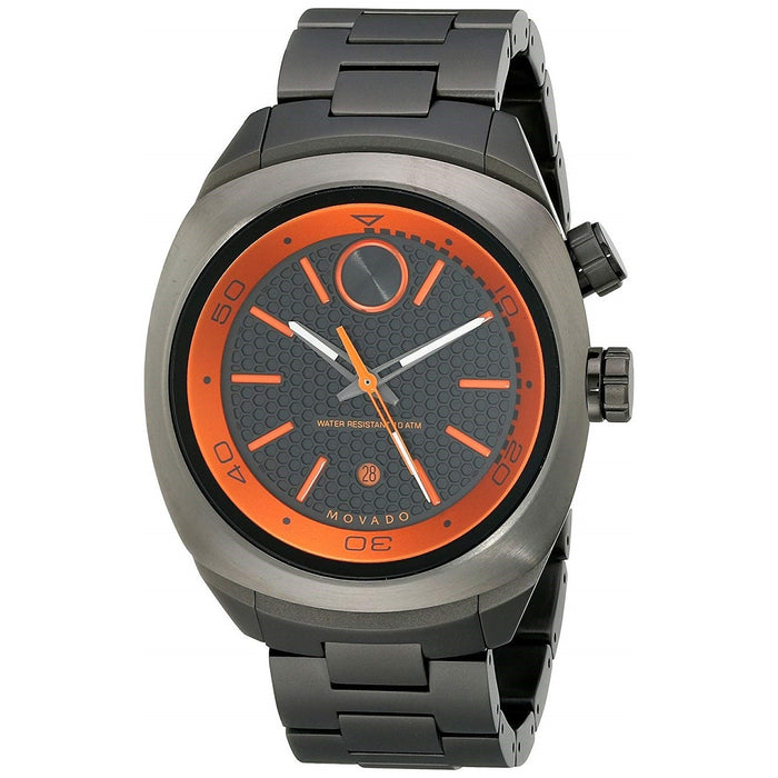 Movado Bold Quartz Black Stainless Steel Watch 3600213