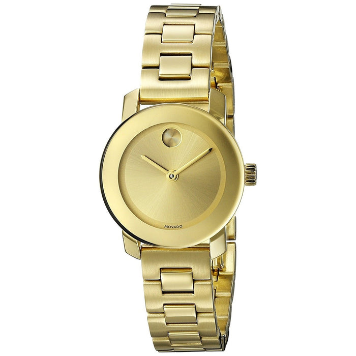 Movado Bold Quartz Gold-Tone Stainless Steel Watch 3600235