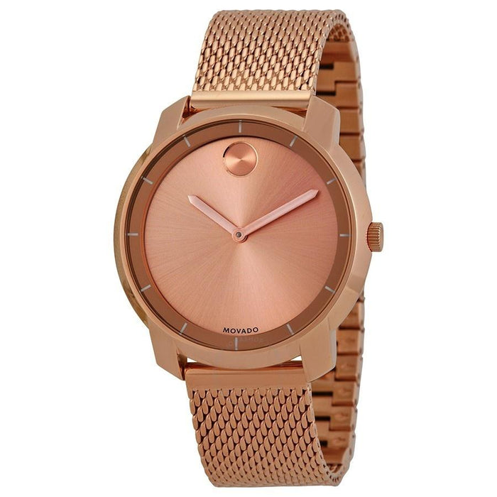 Movado Bold Quartz Rose-Tone Stainless Steel Watch 3600243