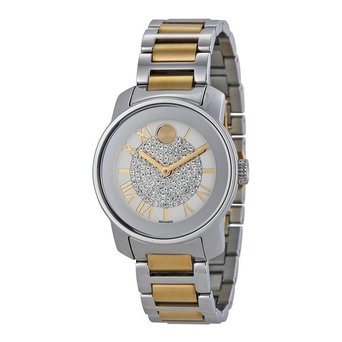 Movado Bold Quartz Crystal Two-Tone Stainless Steel Watch 3600256