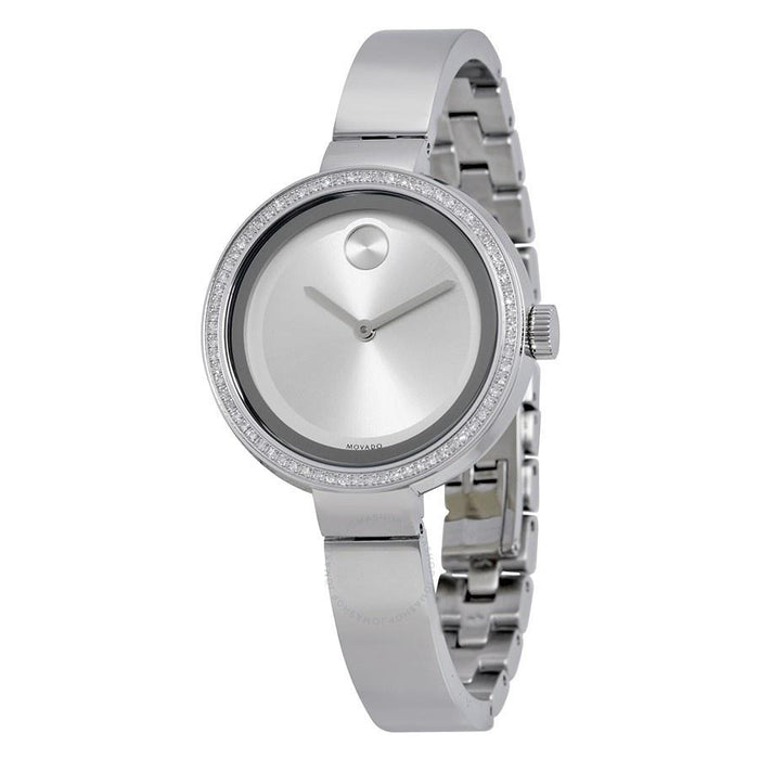 Movado Bold Quartz Diamond Stainless Steel Watch 3600281