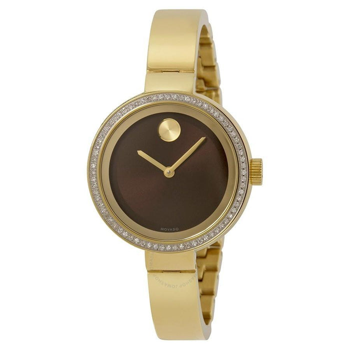 Movado Bold Quartz Diamond Gold-Tone Stainless Steel Watch 3600282