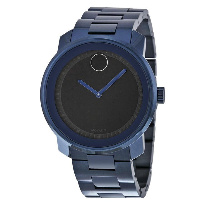 Movado Bold Quartz Blue Stainless Steel Watch 3600296